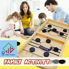 Fast Sling Puck Game Paced Sling Puck Winner Board Family Games Toys Juego Adult