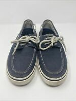 SPERRY TOP SIDER NAVY 2 EYE CANVAS BOAT SHOES SIZE Mens 10
