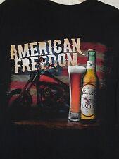 Mens YUENGLING Lager Beer American Freedom Flag Biker Motorcycle T Shirt~M~SALE!