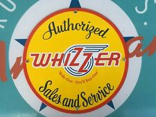 classic WHIZZER bicycle - PORCELAIN COATED 18 gaUGE METAL SIGN