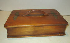 Vintage 1950's Sturbridge Yankee Workshop wood table box with 2 side lids
