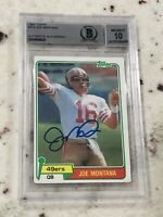 Joe Montana 1981 Topps Card #216 Rookie Card RC BGS 10 Auto Hall Of Fame NFL