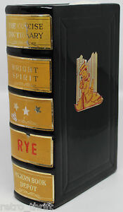 """Concise Dictionary Book Bright Spirit Rye Decanter Bottle Made in Japan 7"""""""