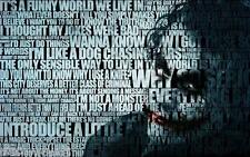 Batman The Joker Quotes Canvas Wall Art Film Movie Poster Print Heath Ledger