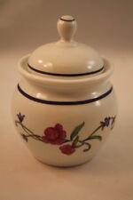 Casual Images Lenox Rose Garden Sugar Bowl & Lid Pink & Blue Flowers Micro Safe