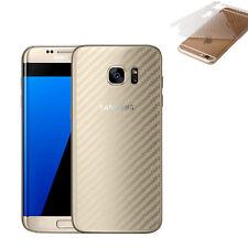 2 X Arrière Carbone Film De Protection Samsung Galaxy s7 Edge Carbone Arrière Film Diapositive