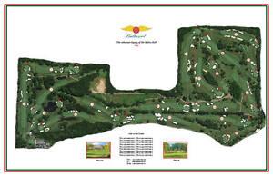 "BALTUSROL  - Vintage Golf Course Maps print (26"" x 15"")"
