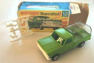 Vintage Matchbox Superfast Kennel Truck Lime Green