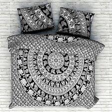 Indian Duvet Doona Cover Elephant Mandala Hippie Bohemian Twin Quilt Comforter