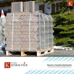 Holzbriketts 960kg Hartholz Nestro Kamin Briketts 96x10kg Eiche Buche Kohle Holz