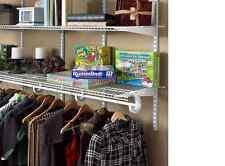 New ClosetMaid SuperSlide 72 in. W x 12 in. D White Ventilated Closet Wire Shelf