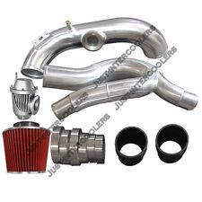"3"" Turbo Intake Piping Filter BOV Kit for BMW E87 135i E90 335i N54 Engine Black"