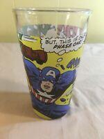 "Captain America Marvel Comics Heroes ""Toon Tumblers"" Pint Glass Glassware 2010"