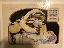 """vintage movie poster; """"The Son of the Sheik"""" starring Rudolph Valentino"""
