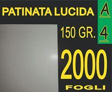 2000 FF CARTA PATINATA LUCIDA STAMPANTI LASER X PIEGHEVOLI 150 GR A4