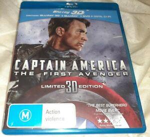 Captain America The First Avenger  3D 2D Blu Ray/DVD