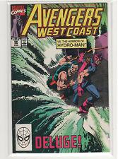 Avengers West Coast #59 Hydro-Man Hawkeye Iron Man Wonder Man Scarlet Witch 9.4