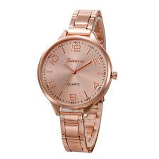 Fashion Women Analog Luxury Crystal Stainless Steel Quartz Wrist Watch Bracele