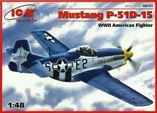 P-51 D-15 MUSTANG (R. MOORE USAAF ACE MARKINGS) 1/48 ICM