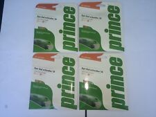 New Prince Synthetic Gut w/Duraflex 16, durable & great all around, gold, 4-pack