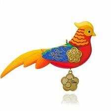 2015 Hallmark Qx9179 12 Days of Christmas Five Golden Rings Pheasant Ornament
