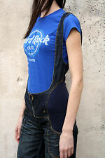 BNWT 3 dimensions Jeans Short Dungarees Overalls Denim Blue Jeans W28 UK10 SEXY