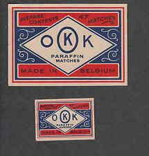 Ancienne étiquette Allumettes  Belgique BN2003  OKK 2