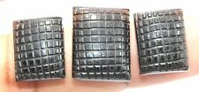 44.20 Ct 3 Piece Natural Black Tourmaline Gemstone Fancy Hand Carving Lot S1042