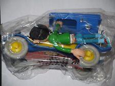 VOITURE GASTON LAGAFFE PUB QUICK FIAT 509 BLEU CLAIR + GASTON NEUF  BLISTER 1998