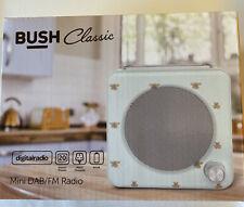 More details for bush classic mini lcd display retro dab & fm radio - bee pattern new - fast post