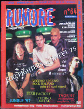 RUMORE 64 1997 Foo Fighters Sweet 75 Jon Spencer Brian Auger Litfiba Ash Sham 69