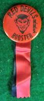 KENOSHA HIGH SCHOOL RED DEVILS BOOSTER VINTAGE 1950's PIN PINBACK BUTTON