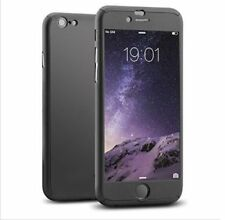 360 Black Hybrid Luxury Ultra Case Cover with Tempered Glass iPhone 7 , 7 Plus