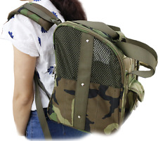 Heavy Duty Backpack Dog Carrier For Small Dogs Military Grade Fabric Hand Bag
