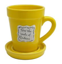 Flower Pot Coffee Mug w/ Spade Stir Spoon, Sow The Seeds Of Kindness