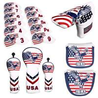 Golf Head Cover USA Headcover For Putter Mallet Iron Driver Fairway Wood Hybrid