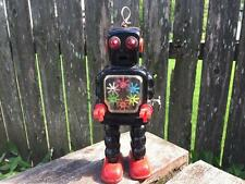 ORIGINAL 1960 KO Yoshiya Japan High Wheel Gear Wind Up Tin Robot Toy Works