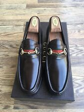GUCCI MEN'S HORSEBIT LOAFERS BROWN W/ RIBBON US SIZE 10 EUR SIZE 43.5
