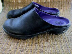 Crocs Comfort Sandals Clogs Mules Slip On Shoe US 10 Black 16052 Cobbler Leather