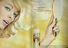 Publicité Advertising 097  1964   L'Oréal  (2p)   laque Elnett Satin