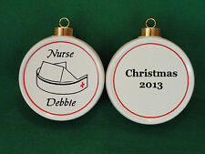 Custom NURSE Ornament *Personalized* Christmas, Holiday, Paramedic, Firefighter
