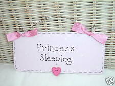 PRINCESS SLEEPING SIGN ~ Girls Bedroom ~ SPARKLY Present Gift Birthday