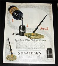 1930 OLD MAGAZINE PRINT AD, SHEAFFER'S PENS AND PENCILS, OFFICE WRITING SYSTEMS!
