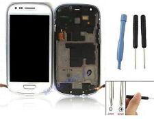 ECRAN LCD + VITRE TACTILE SUR CHASSIS POUR SAMSUNG GALAXY S3 MINI i8190 BLANC