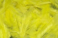 YELLOW FLUFFY CRAFT FEATHERS FOR EASTER CRAFTS 25g BAG