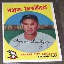 1959 Topps #496 Wayne Terwilliger Kansas City A's *A3