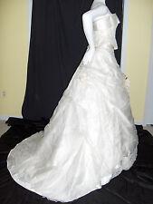 SIGILLO DI GARANZIA KLEINFELD WEDDING GOWN 2 PIECE HOOPS SILK LACE 10 CORSET