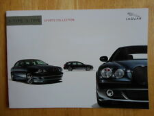 JAGUAR X and S Type Sports Collection c2004 UK Market Sales Brochure