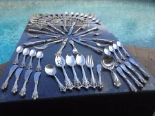 OLD HEAVY COMPLETE SET 9 SERVERs WALLACE GRANDE BAROQUE STERLING SILVER GRAND