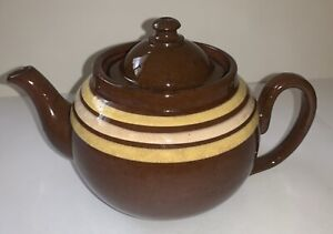 Vintage ALB Alcock, Lindley Bloore Brown Betty Teapot Earthenware England 4 cup